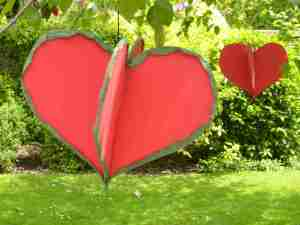 Hearts in the garden