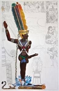 Amun-Ra-Kamutef by iconsofkemet